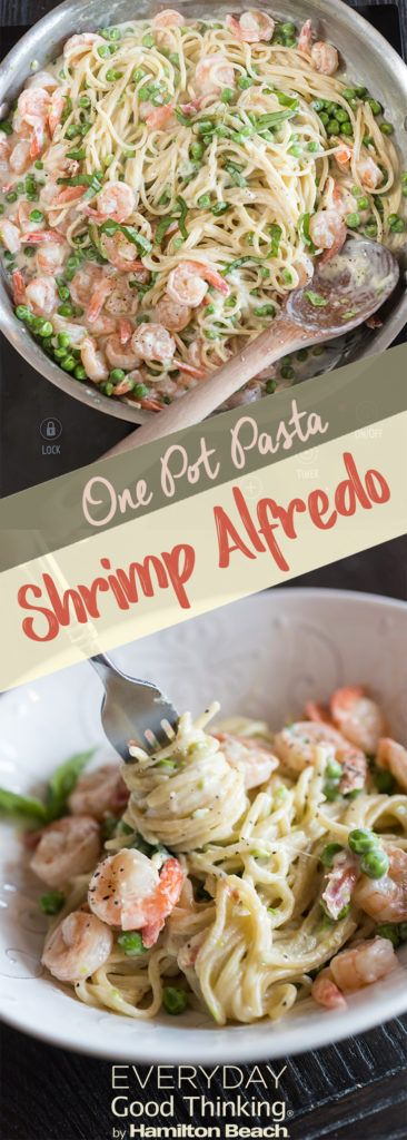 one-pot pasta shrimp alfredo
