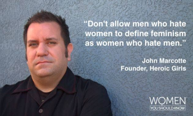 Great quote, and a good one to remember. Feminism is not hating men.