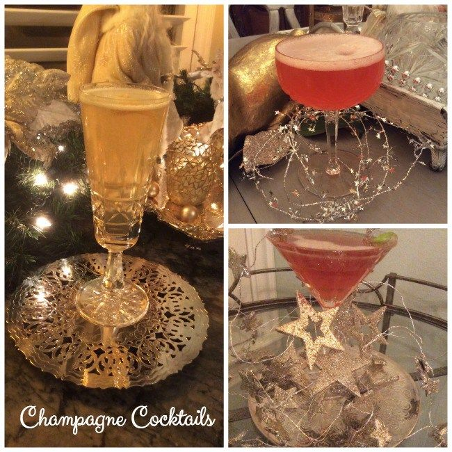 5 Champagne Drinks for New Year's Eve ~ one of these yummy and pretty cocktails will be the perfect party beverage for your New Year's festivities.