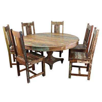 MOTI Furniture Trinidad 7 Piece Dining Set