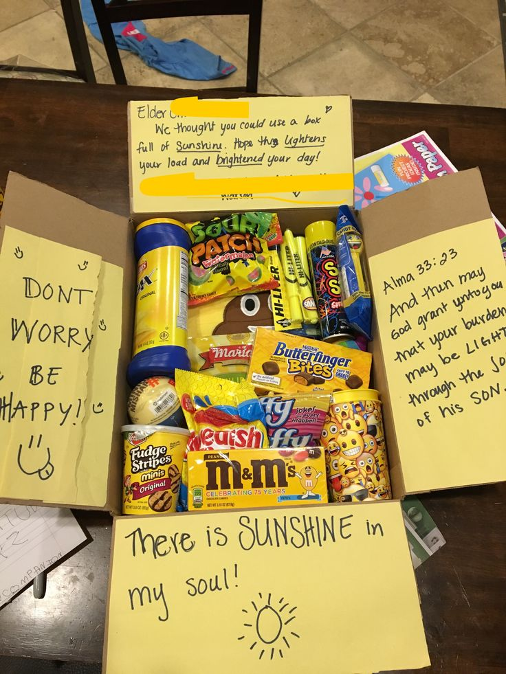 Missionary care package LDS sunshine