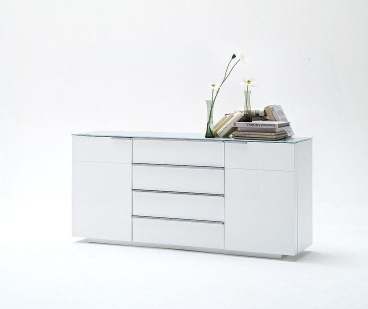 Sideboard Weiss Hochglanz Lackiert Woody 41 02056 Holz Modern Jetzt  Bestellen Unter: Https: