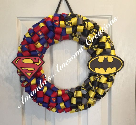 Superman vs. Batman by AmandasCreations11 on Etsy