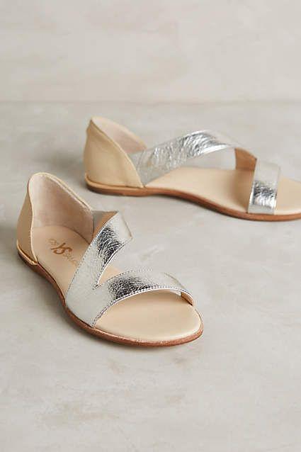 Yosi Samra Casey Metallic Sandals - anthropologie.com