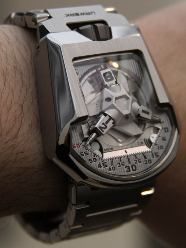 Urwerk UR-202S Watch - Hammerhead Full Metal Jacket. Limited Edition of 50 piece. Price: $145,000.00 USD for the polished steel