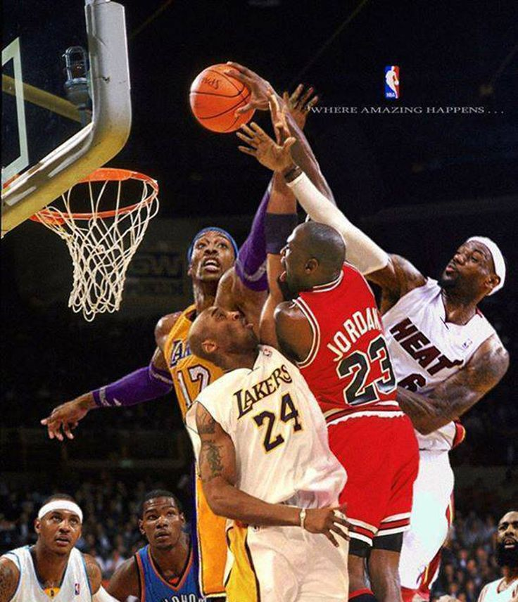 GOAT Michael Jordan VS Kobe Bryant VS LeBron James VS Dwight Howard VS Kevin Durant VS Carmelo Anthony VS James Harden