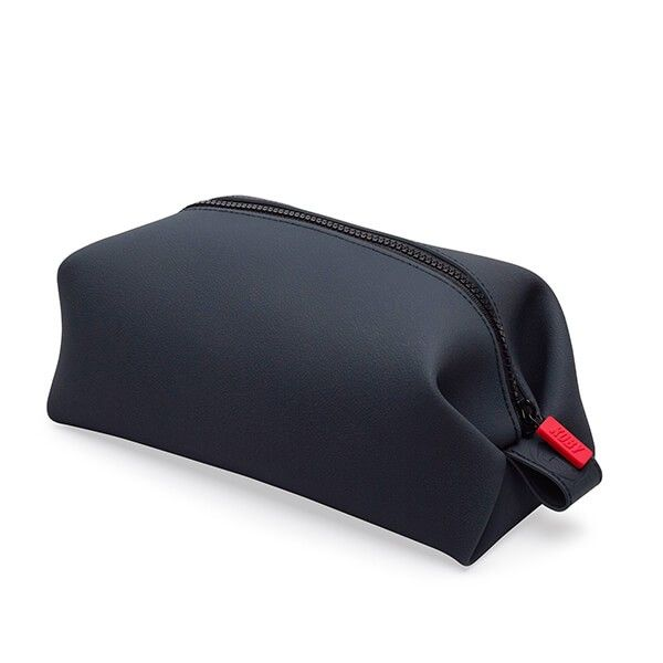 Tooletries KOBY Bag - 100% Silicon Travel Toiletry Kit - Charcoal. Simple yet very functional, this dopp kit is perfect for storing and transporting all your personal grooming supplies and implements while traveling for pleasure or business. The generous size and full zippered top allows for easy storage of large items such as shampoos and shaving supplies. Just right for boating, camping, hiking and other outdoor adventures. $29.95