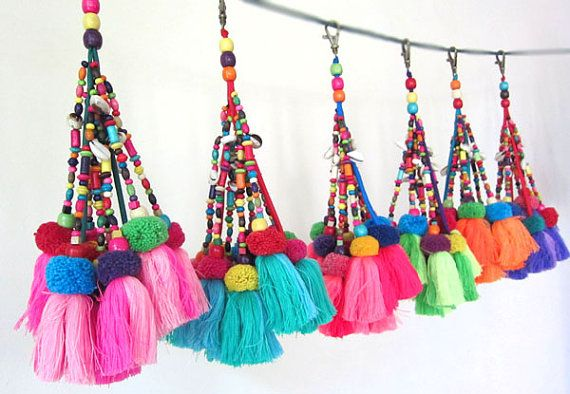Tassel Purse Swag Tassel Beaded Purse Charm Tassel Keychain Tassel Decor Wholesale Tassel Supplies Assorted Colors Custom Orders