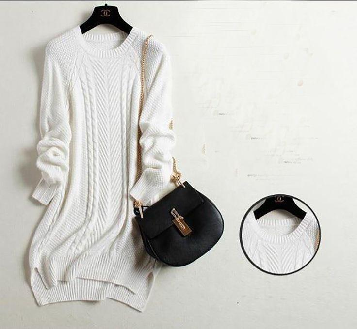 Women's Sweater Cashmere Basic Plus Size Long Slim O-neck Women's Sweater Cashmere Basic Plus Size Long Slim O-neck 1