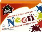 Club House Préparation de colorant alimentaire néon en 4 fioles