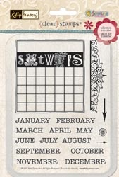 Kelly Panacci Clear Stamps - Calendar