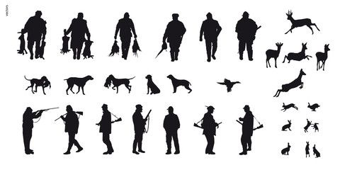 Vector: Motive hunting of animals and landscapes