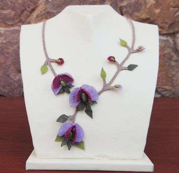 """Authentic Anatolian Needle Lace Pure Silk """"Fiy"""" Necklace"""