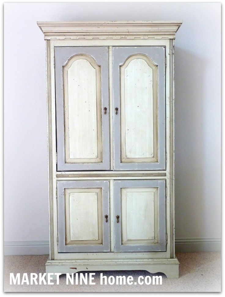 DIY:  Painted Armoire Tutorial - this is an awesome finish!  She explains each step & has lots of pictures!  Love this!