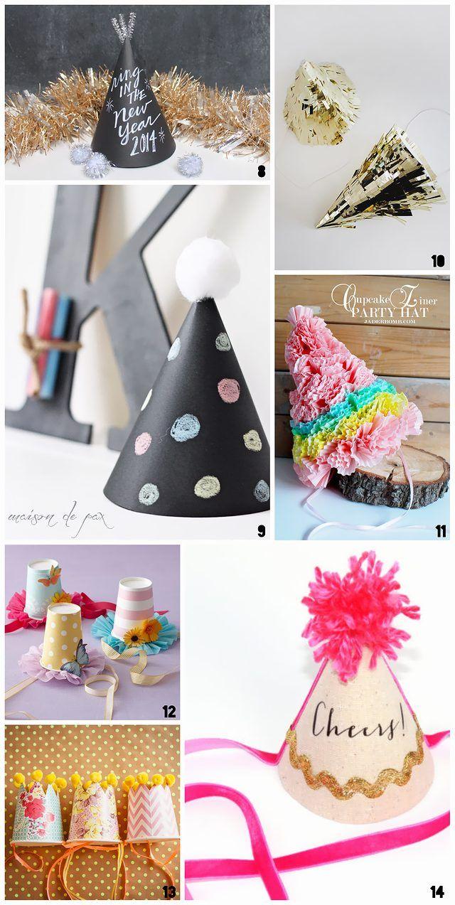 クリスマスパーティーやバースデーパーティー用にDIYで作れる可愛いパーティーハットのデザインアイデア集