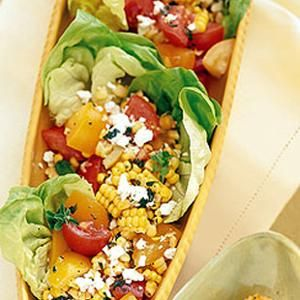 Tomato and Corn Salad with #Marjoram - Pack this end of summer salad ...