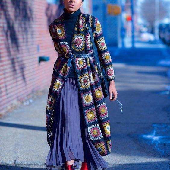Abuela Plaza abrigo bufanda sudadera chaqueta por AlisaSonya