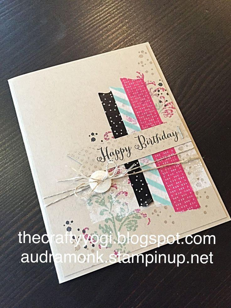 Birthday  Cards | Card Making | Scrapbooking Card | Featuring Washi Tape | Creative Scrapbooker Magazine  #cards #washitape #scrapbooking #birthday