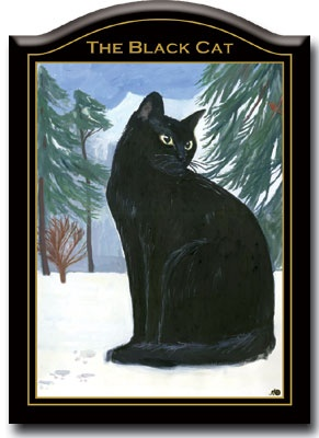 BLACK CAT Vintage Pub Sign