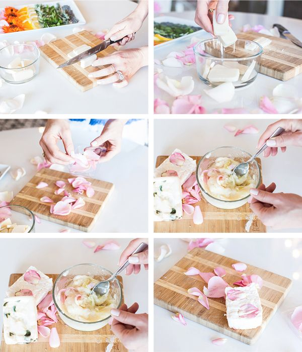 DIY Geschenk: Selbstgemachte Rosen-Seife