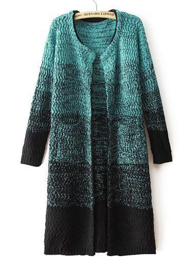 Fabulous Long Sleeve Knitting Wool Cardigans with Pocket