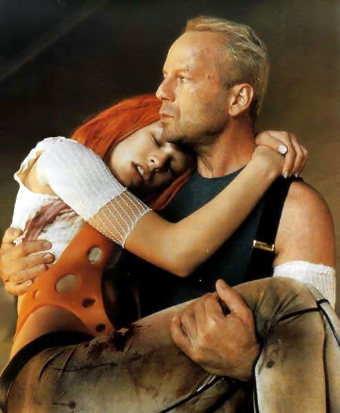Leeloo & Korben (Milla Jovovich & Bruce Willis), The Fifth Element (1997)