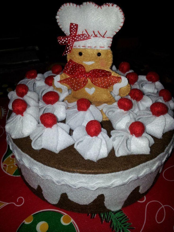 Scatola torta in feltro, by Il Fantastico Mondo di Fio, 15,00 € su misshobby.com