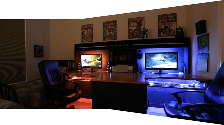 : Computer Room Ideas, Gaming Setup, Computer Setup, Computer Gaming