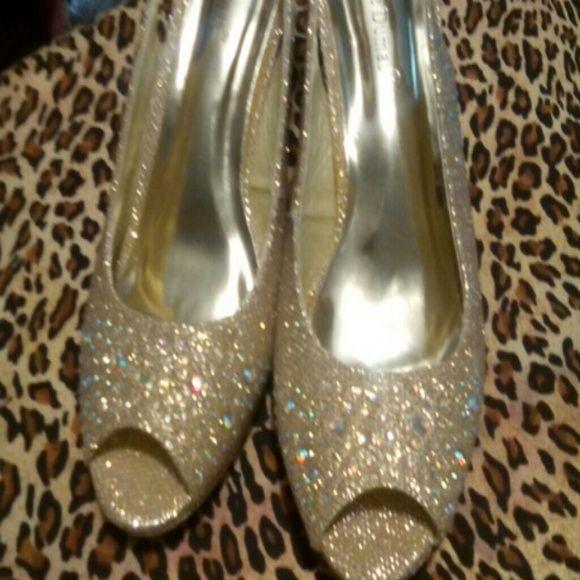 Shoes Gold evening shoes Pierre Dumas Shoes Heels