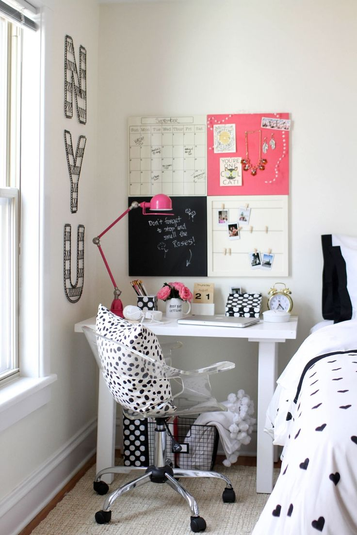 How to Style a Desk 3 Ways: for the 18-year-old Student, the 20-something Post-grad, and the 30-something Career Woman // dorm style
