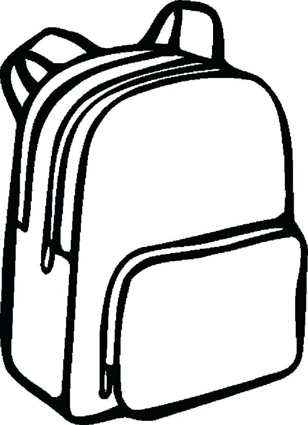 Coloring Backpacks Colorful Backpacks Coloring Pages School Bags