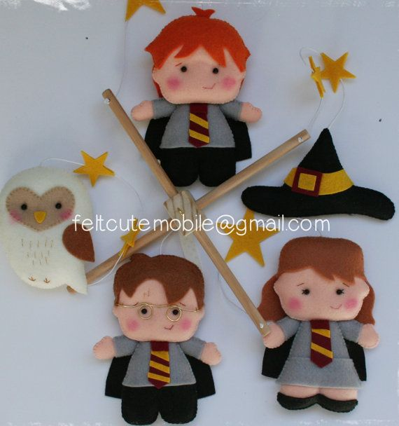 Harry Potter Mobile Baby Crib Mobile Harry by feltcutemobile