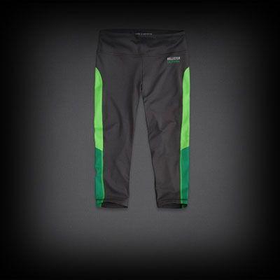 Hollister Sport Crop Leggings スウェットパンツ ポップカラーで入ったサイドのラインがスポーティーでかっこいい!