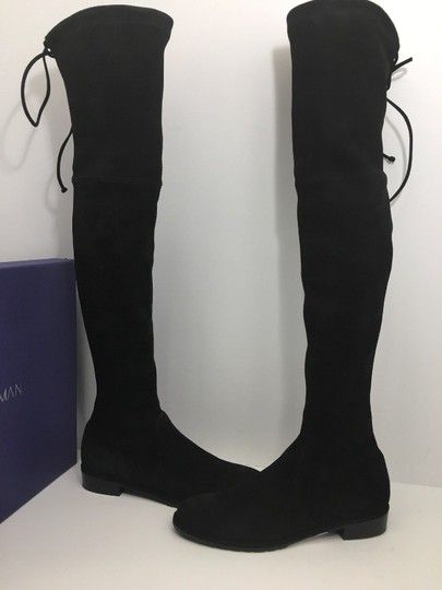 e4c4753a1 Stuart Weitzman Black Lowland Tall Otk Over The Knee Suede Boots/Booties  Size US 7.5 Regular (M, B). Get the must-have boots of this season!