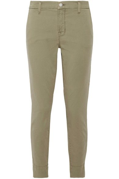 J Brand | Josie stretch cotton-blend twill skinny pants | NET-A-PORTER.COM
