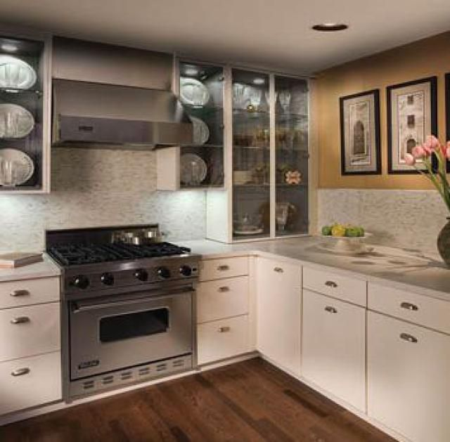 10 Contemporary Kitchen Designs You'll Want For YOUR Home: Amazing Full Glass Cabinets