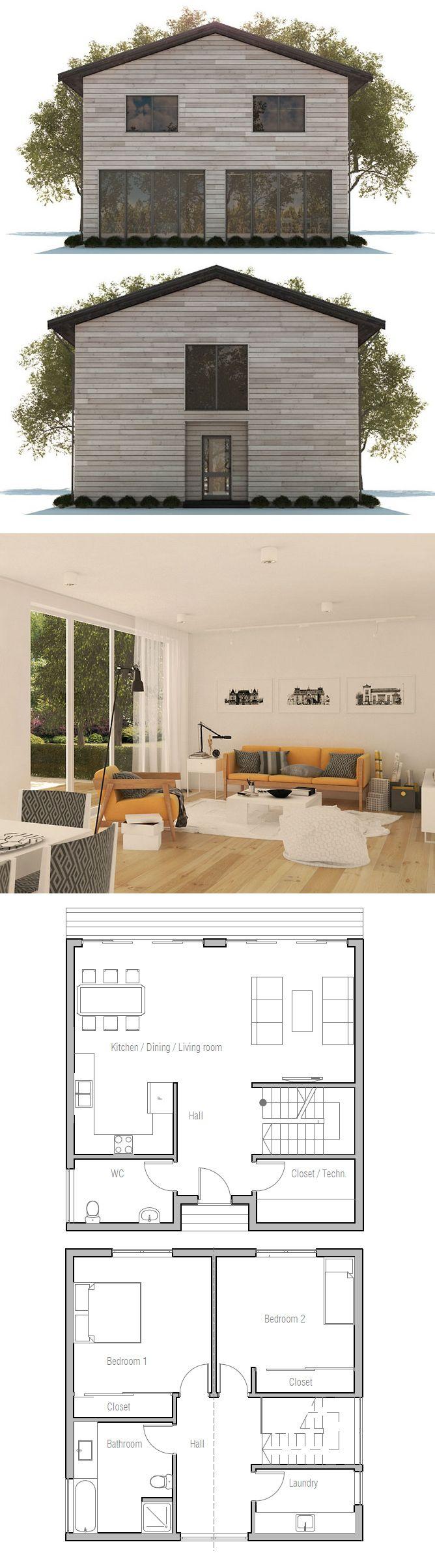 Narrow house plan narrow house plans pinterest house for Narrow house plans with attached garage