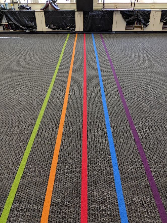 We Just Completed This Colorful Carpet Music Staff For An