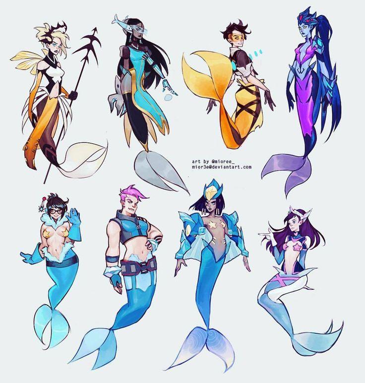 My #Overwatch #mermaids i made a bit ago. And never posted here! #fantasy #digital #art #design #game #blizzard #fanart #drawing #instaart #instagood #artistsofinstagram #artistsoninstagram