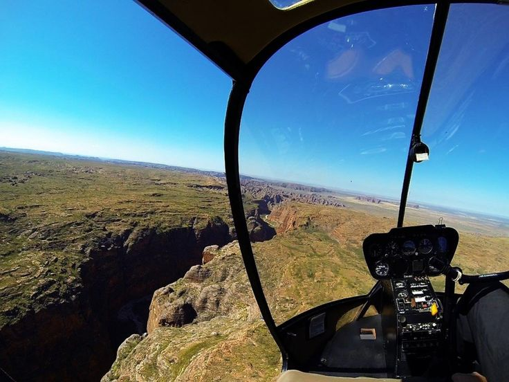 Helicopter ride over the Bungles