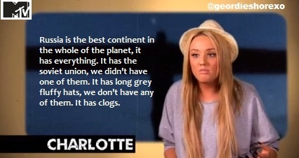 Geordie shore... @XCross09 just more of the lovely stuff thy comes with this show!!!!!! #classiccharlotte