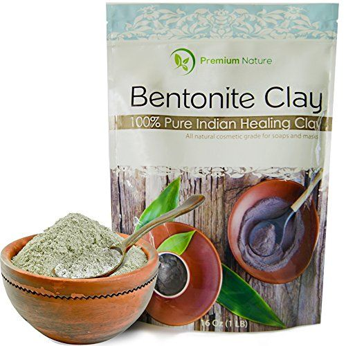 Indian Healing Bentonite Detox Clay  16 oz 100 Natural Powder Face Mask Reduces Acne  Aztec Organic Deep Pore Cleansing  All Natural for Skin  Hair Removes Toxins Premium Nature ** Check this awesome product by going to the link at the image.