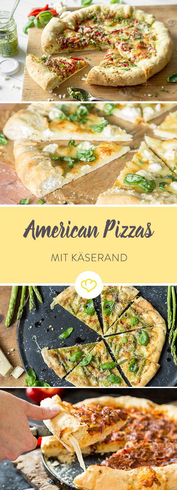5 x American Pizza mit Käserand