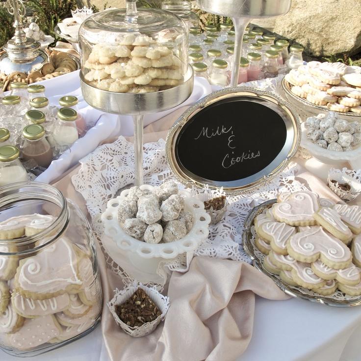 Diy Wedding Food: Milk & Cookies Table At Celeste's Wedding