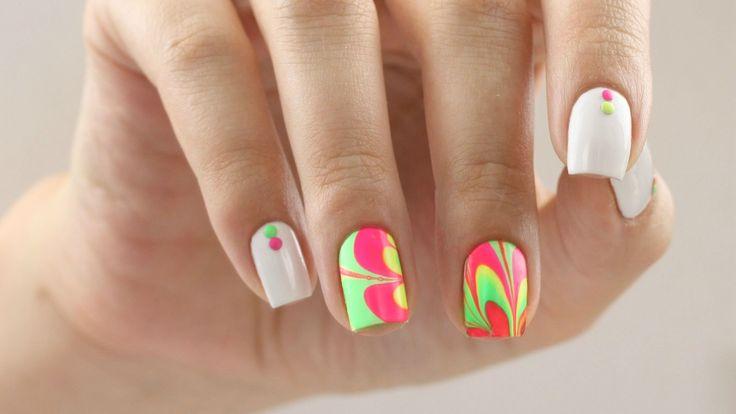 Делаем водный мраморный маникюр, water manicure. Больше на женском сайте womansovetnik.com