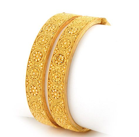 GOLD antique jewelry  | Indian Jewellery and Clothing: Latest antique gold bangle models..