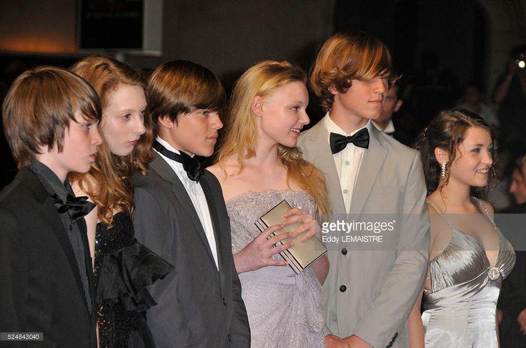 Christian Friedel, Michael Kranz, Maria Victoria Dragus, Leonie Benesch, Roxanne Duran, Leonard Proxauf, and Janina Fautz attend the premiere of 'Das Weisse Band' during the 62nd Cannes Film Festival.