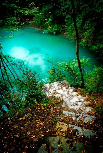The amazing Galazia Limni (Blue Lake) in Kilkis , Greece