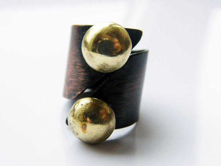 Rings – Pair. adjustable copper ring , handcrafted ring – a unique product by LydiaRED on DaWanda
