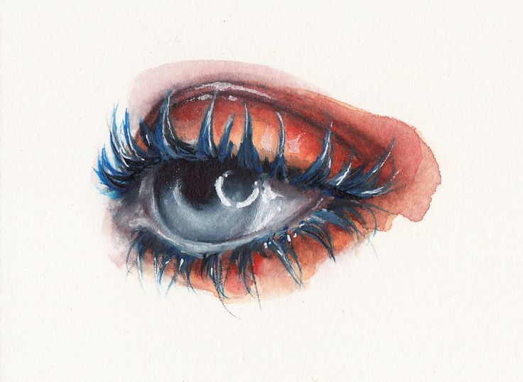 #oksanadimitrenko #watercolor #aquarelle #eyes #beauty #makeup #portrait #fashion #illustration #face #lashes #mascara #sennelier #art #painting #drawing